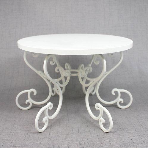 White Swirl Cake Stand
