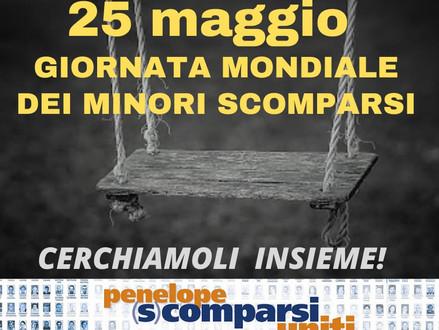 25 maggio - Giornata Mondiale dei Minori Scomparsi