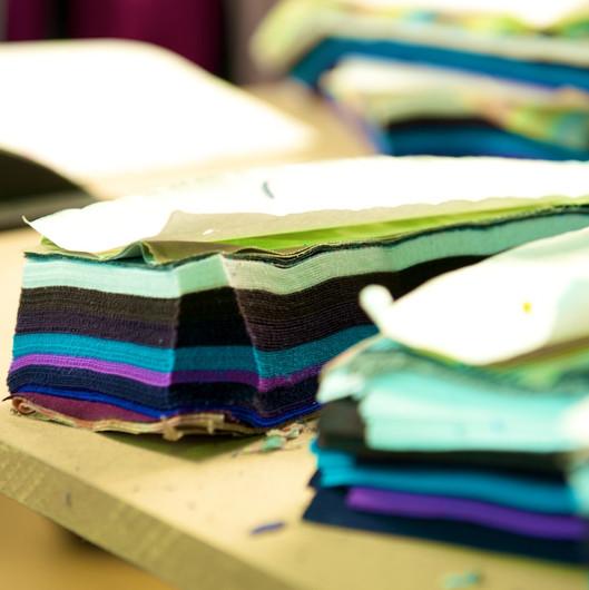 100 Layers of fabric equal 100 leggings