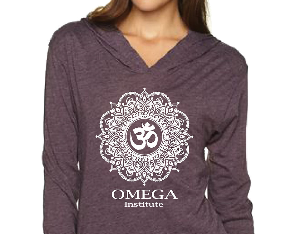 Omega Soul Mandala Plum Triblend Hoodie