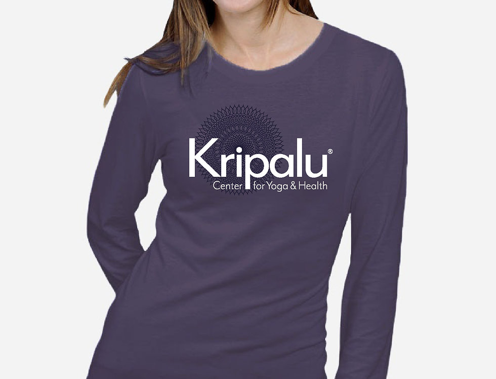 Kripalu Layered Mandala Dusty Purple Bamboo LS T