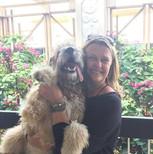 Annette & her Goldendoodle Sadie