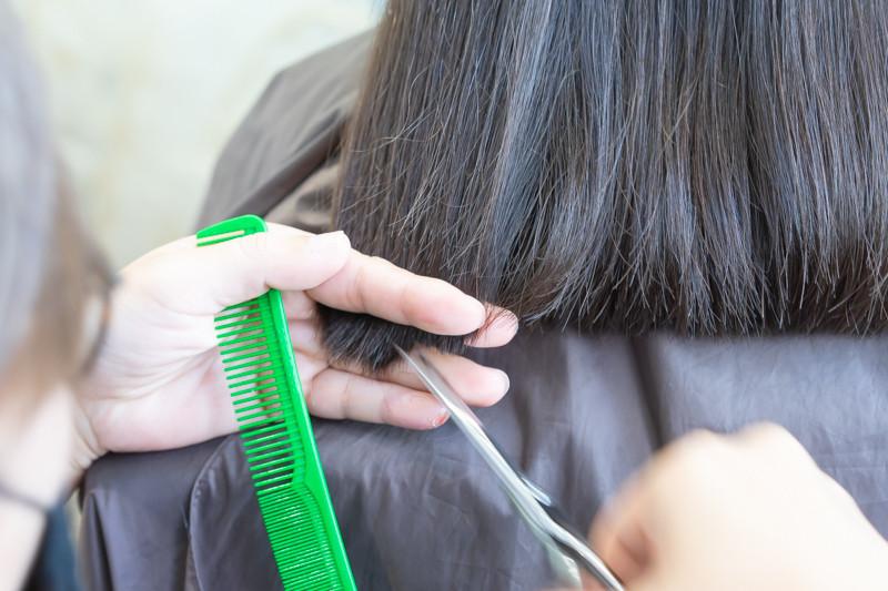 Haircut before Perm at Room Hair Salon