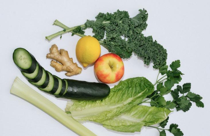 Image of vegetables. Vegetable hair treatment.