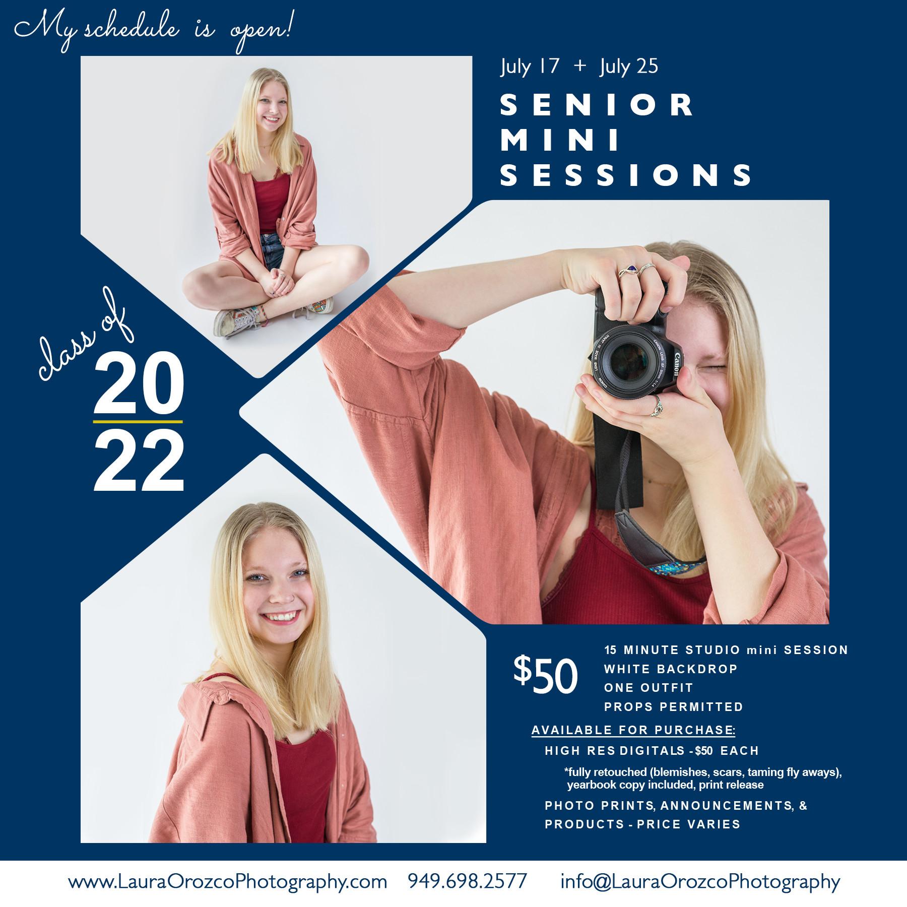 Senior Mini Sessions
