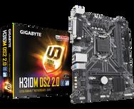 לוח אם דור 8 Gigabyte H310M DS2 Rev2.0 VGA Micro-ATX