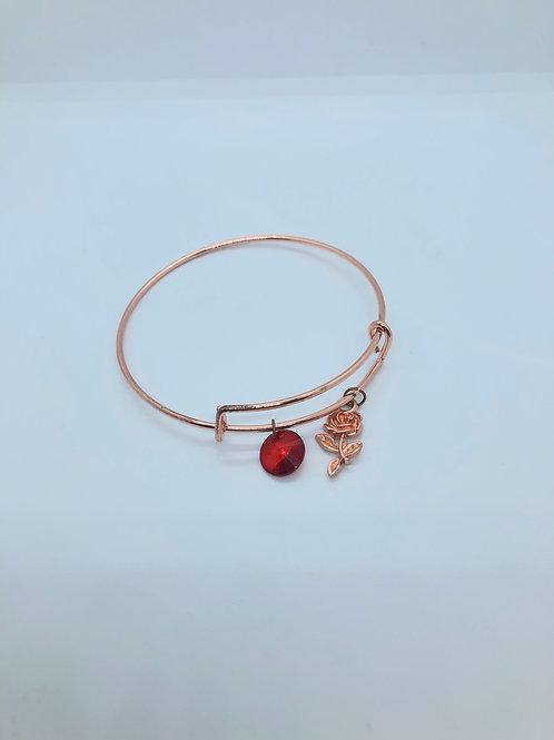 Rose Gold + Red Bangle
