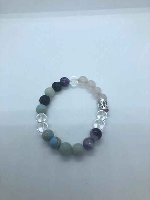 Assorted Colour Beaded Bracelet