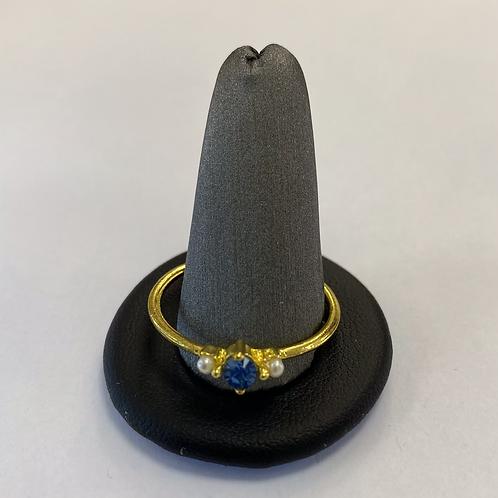 Gold + Navy Blue Gem