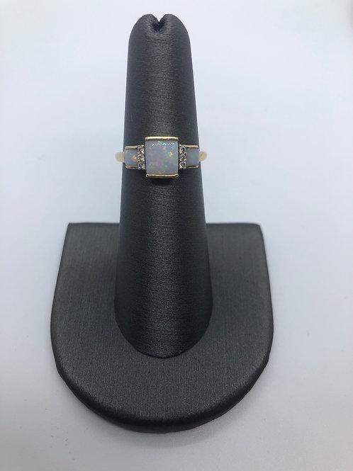 Genuine opal ring 10k gold