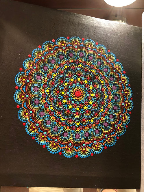 Mandala paintings by Carlie Wutke