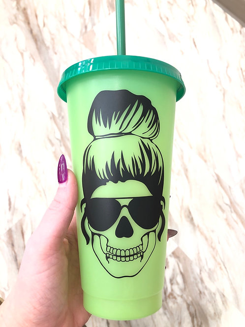 Skull Girl Changing Colour Cup