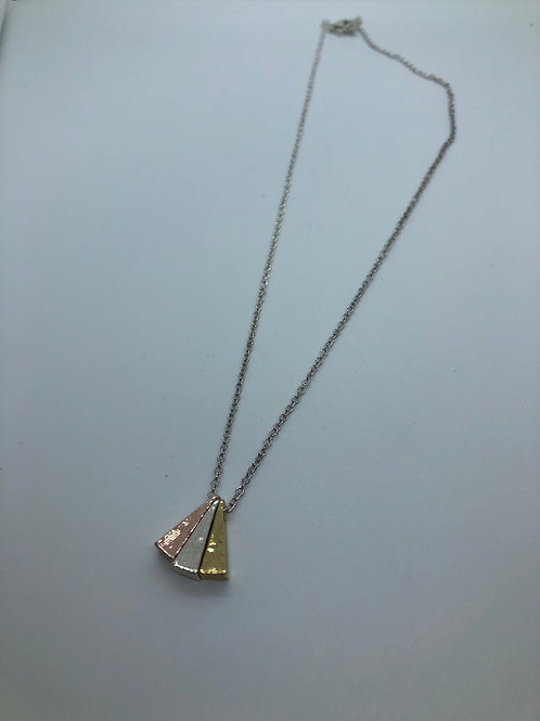 Silver colour Rhodium plated brass necklaces