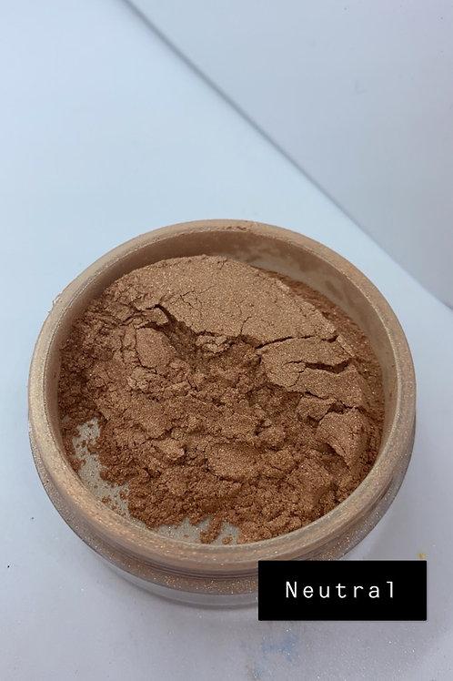 Neutral pigment face powder