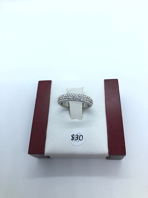 Snow White Crystal Ring