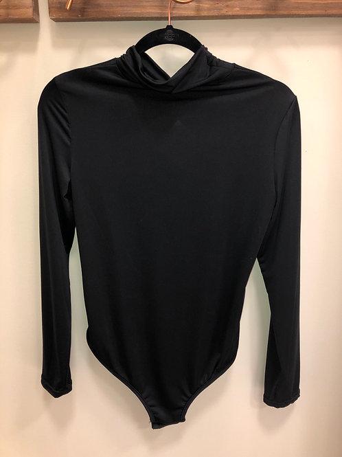 Black turtleneck bodysuit
