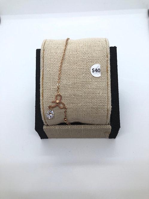 Rose Gold Bow Bracelet