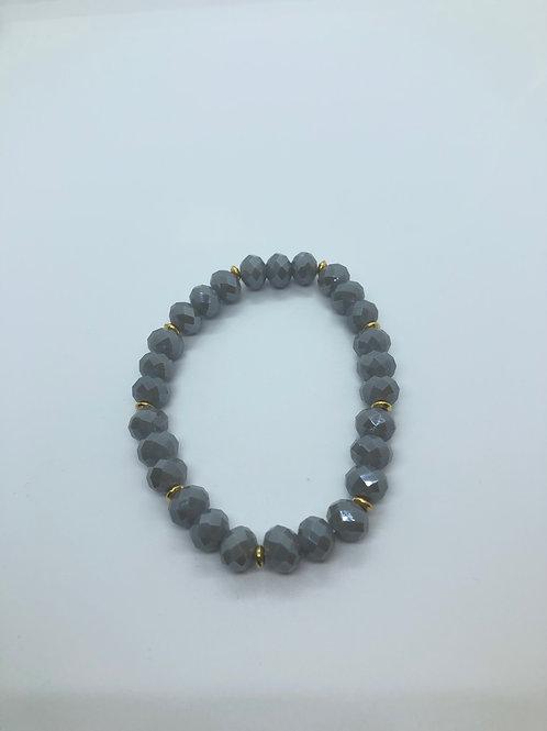 Grey + Gold Bracelet