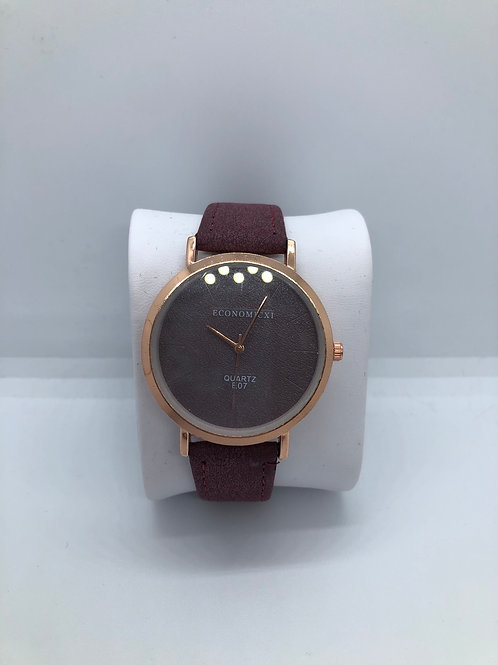 Rose Gold Maroon Watch