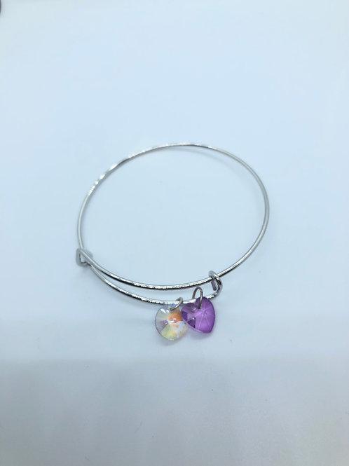 Iridescent + Purple Bangle