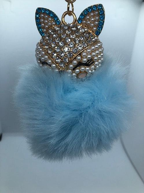Foxy Fuzzy Keychain