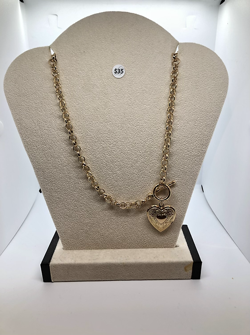 Gold Lock It Necklace