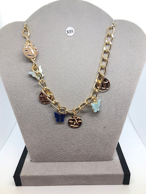 Gold + Butterfly Necklace