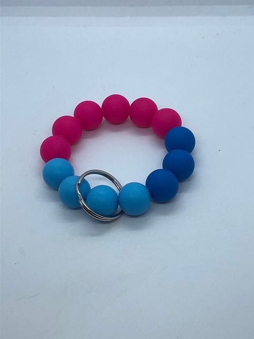 Pink + Blue Keychain