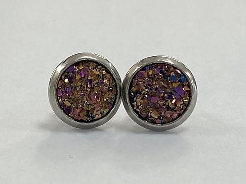 Multicoloured Druzy Earrings