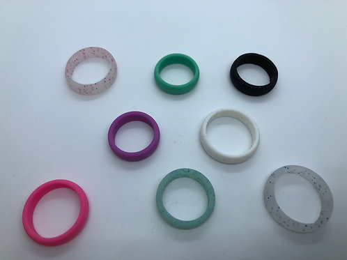 Wide silicone bands