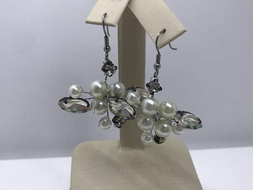 Pearl Statement Dangle Earrings