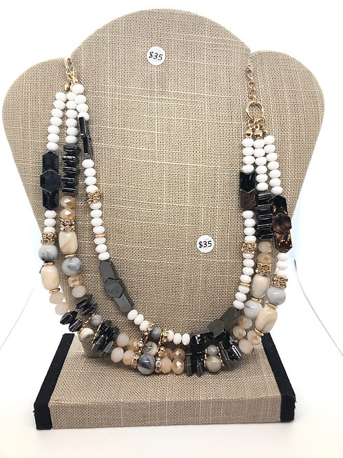 Layered Neutral Toned Necklace