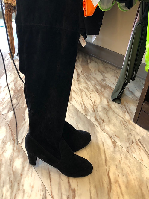 Black Thigh Heels
