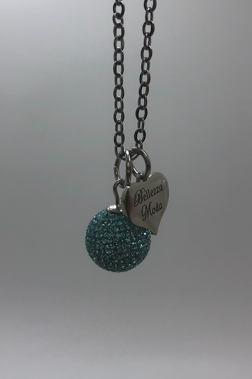 Turquoise Micropavé Necklace