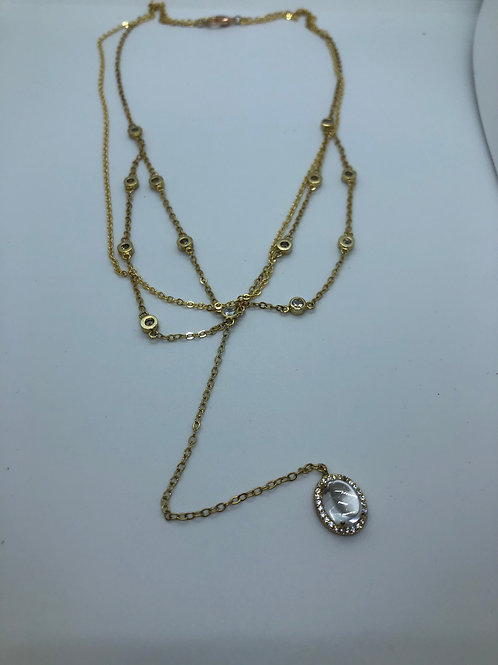 Gold colour 925 silver dainty necklaces