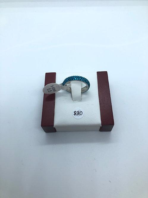 Teal Crystal Ring