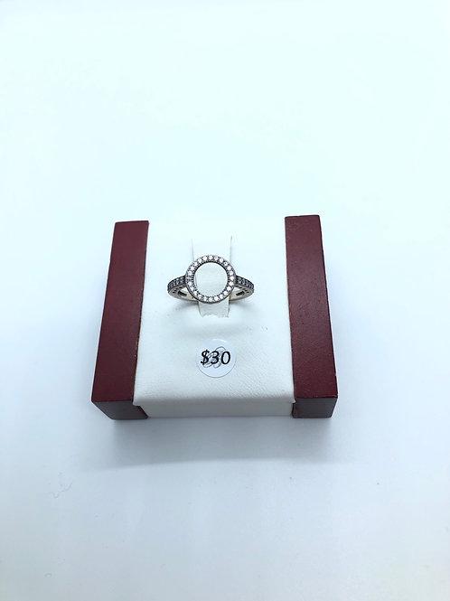 Cubic Zirconia Circle Hollow Ring
