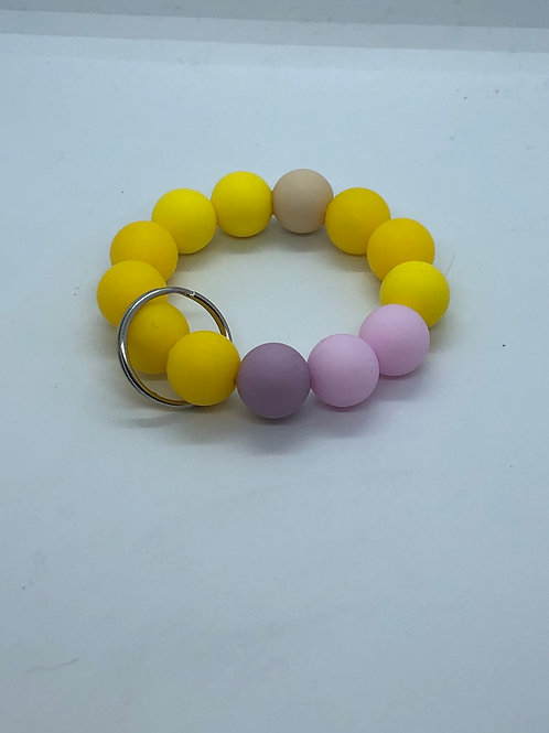 Yellow + Pink Keychain