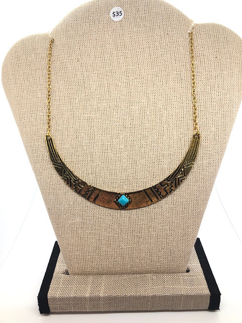Turquoise + Gold Necklace