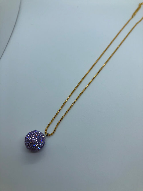 Lilac micropave necklace