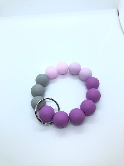Grey + Lilac + Purple Keychain