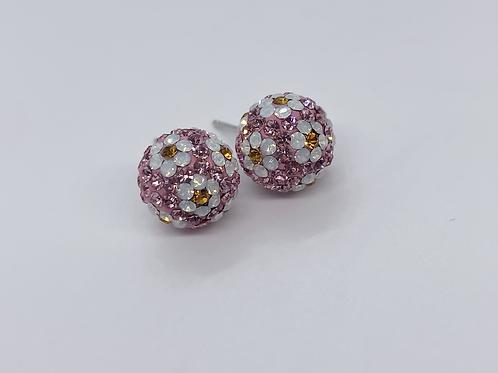 Jewellery crystal ball earrings