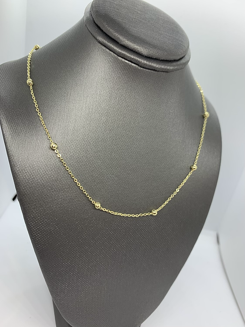 Gold Dainty Bead Necklace