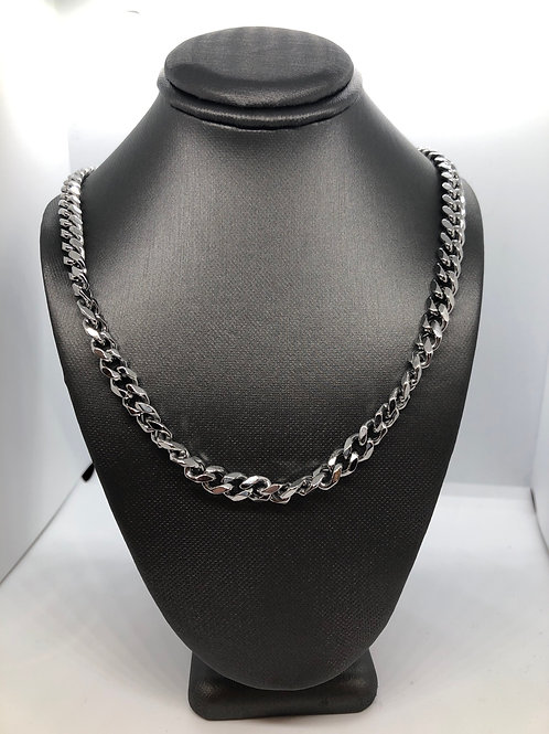 """Thick Silver Chain 17.5"""""""