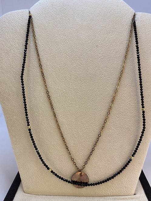 Gold and Black Layered Necklace