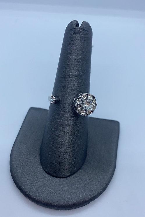 Silver spinny fidget ring