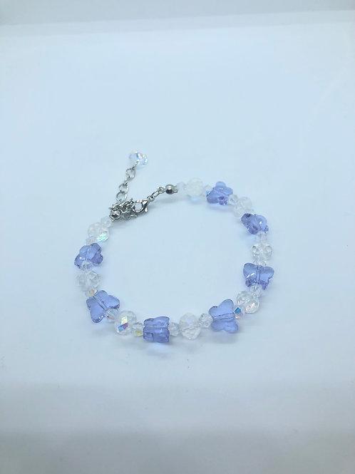 Lilac + Clear Butterfly Bracelet
