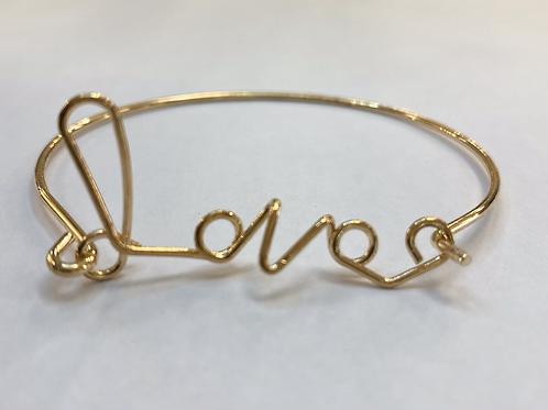 "Gold ""Love"" Bracelet"