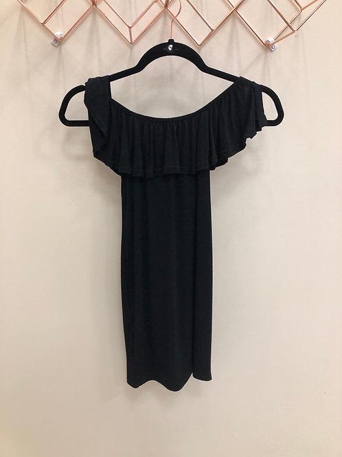 Cotton off the shoulder mini dress