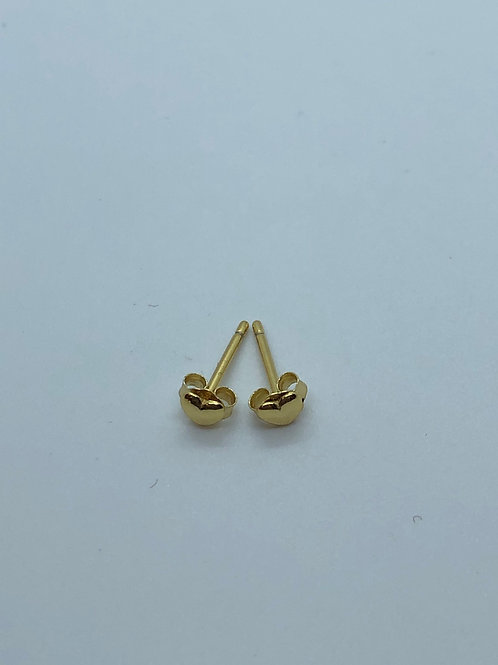 925 silver gold studs